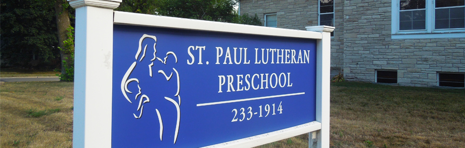 St. Paul, Ames - preschool sign